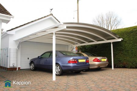 2 Carport Wall Attached White