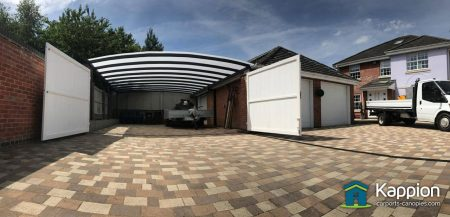 Double Garage Attached Carport